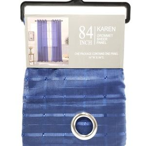 Glory Home Design Accents - Karen Sheer Grommet-Top Single Curtain Panel_NVSHR
